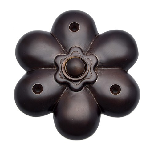 Decorative Flower Silicon Bronze Bell Push
